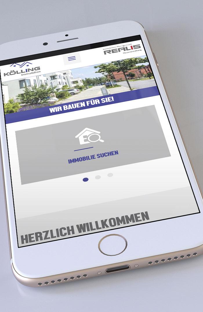 Kölling Immobilien Webseite