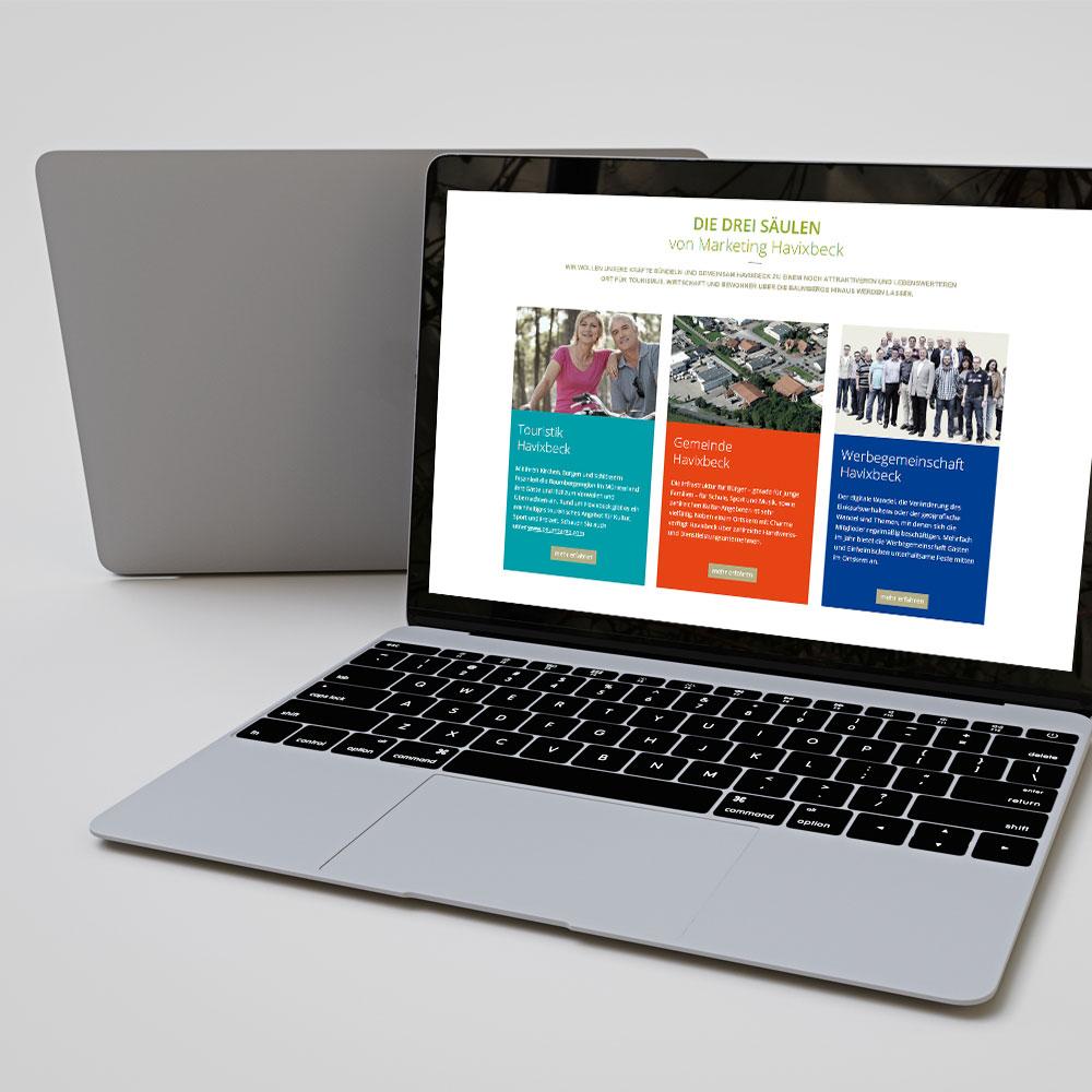 Marketing Havixbeck Webseite